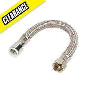 HydraQuip Chrome Push-Fit Hose 15 x 300 x 13mm x ½""